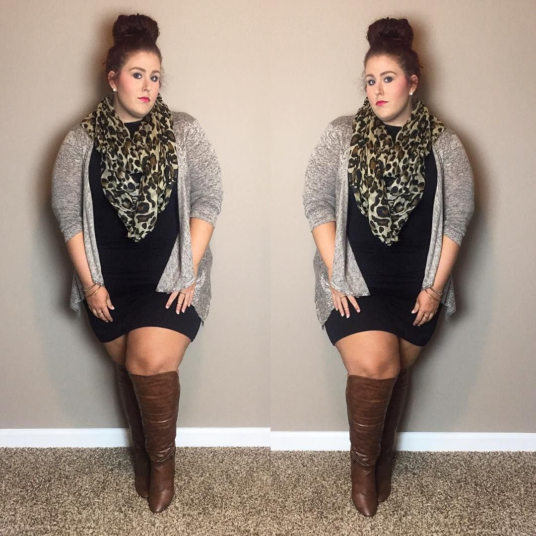 Scarf Targetstyle Dress Forever21plus Sweater Rossdressforless Boots Shop6pm Madden Girl Zilch Fitsss In 2019 Plus Size Outfits Fashion Curv
