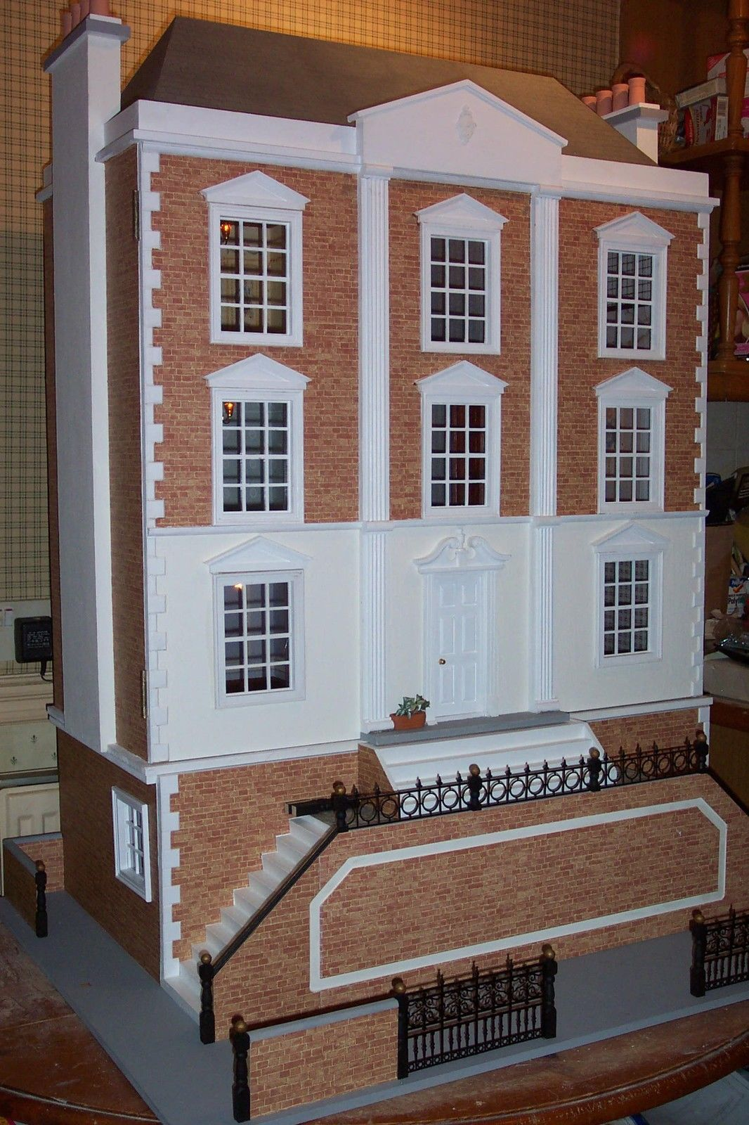 Dolls House Emporium Montgomery Hall, With Basement Rooms Added. Contact Me  From My Web Site. .....Rick Maccione Dollhouse Builder  Www.dollhousemansions.com