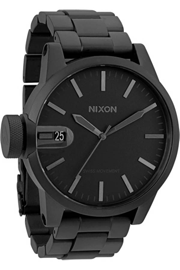 26155eb833a Nixon Chronicle SS Watch in All Matte Black
