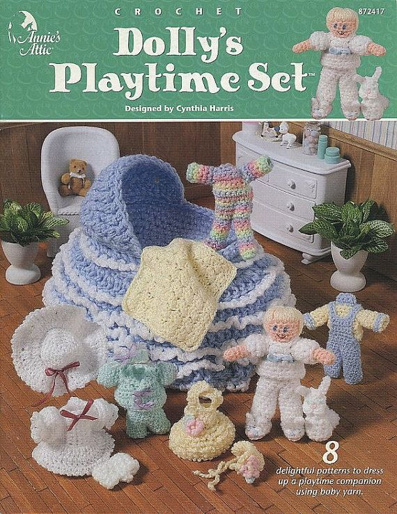 Dolly\'s Playtime Set, Annie\'s Attic Crochet Pattern Book for Doll ...