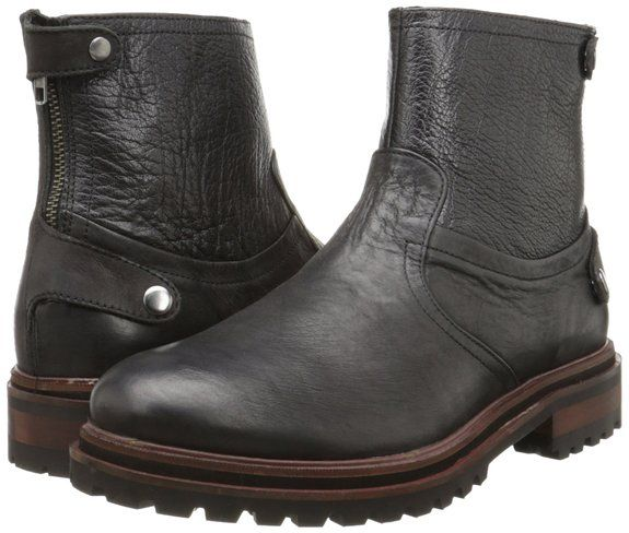 Newest Styles Hudson Mexborough Calf Mens Biker Boots