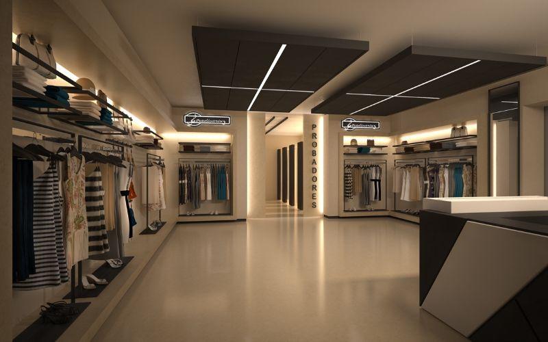 Suelos baratos para un interior publico descubre qu for Diseno de interiores almacenes de ropa