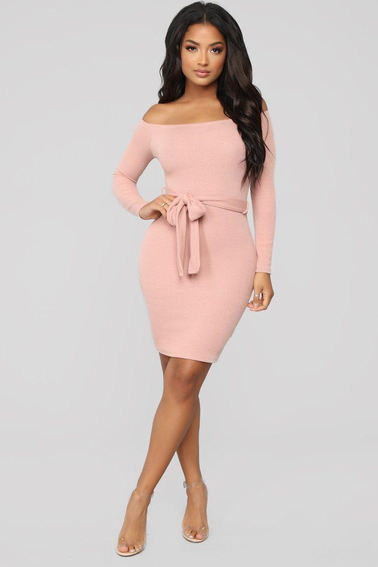 296e10a7b5 Soft And Sweet Off Shoulder Mini Dress - Mauve in 2019 | tarvel ...