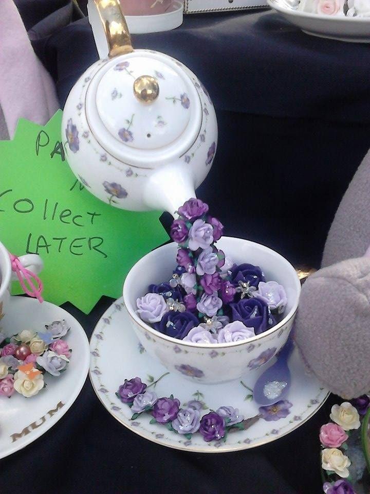 Floating Tea Pot Own Design Hope You All Like Flowers Crafts