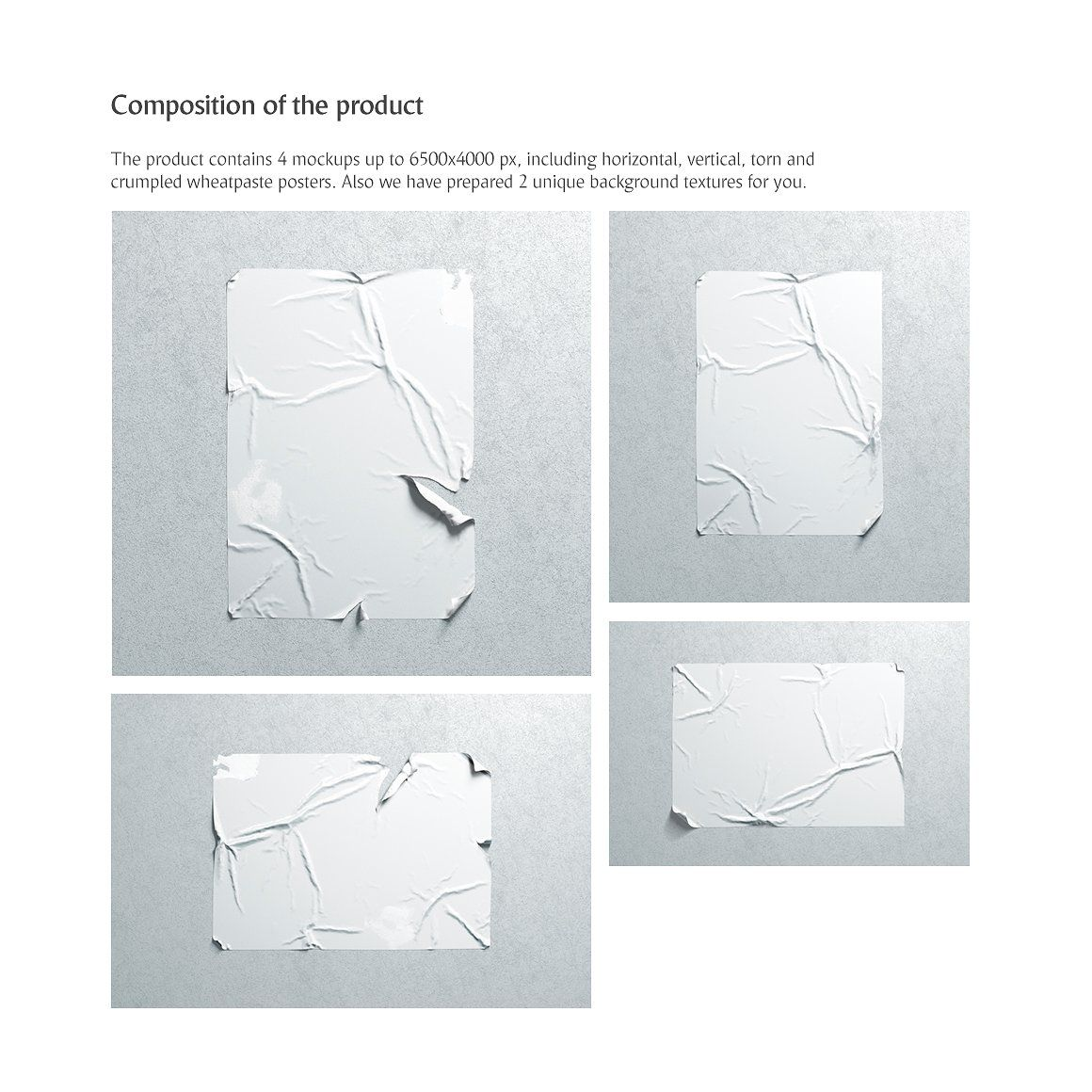 4 posters mockup