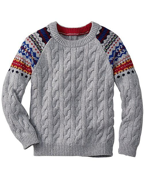 Colorful Fair Isle patterns, lofty soft yarns and cableknit ...