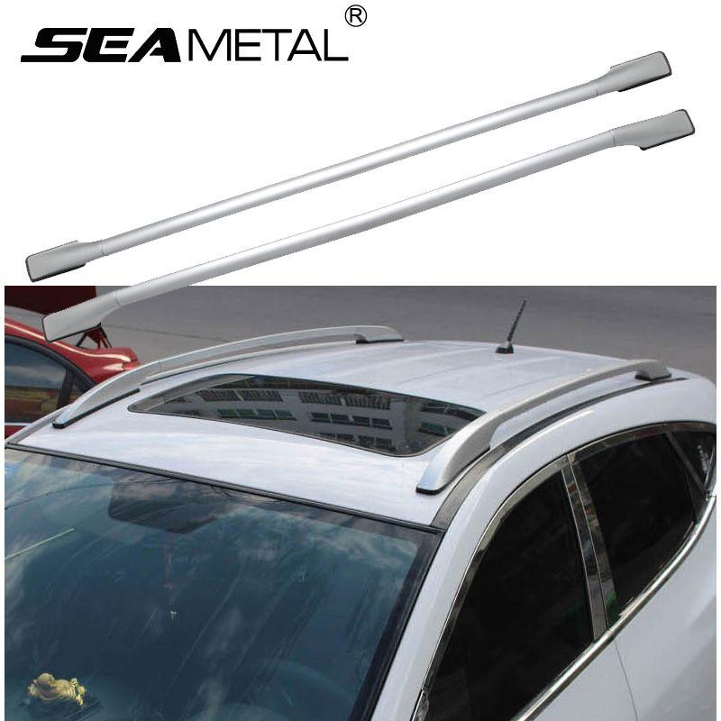 Universal Aluminum Alloy Car Roof Racks Bars Side Rail Luggage Bar ...