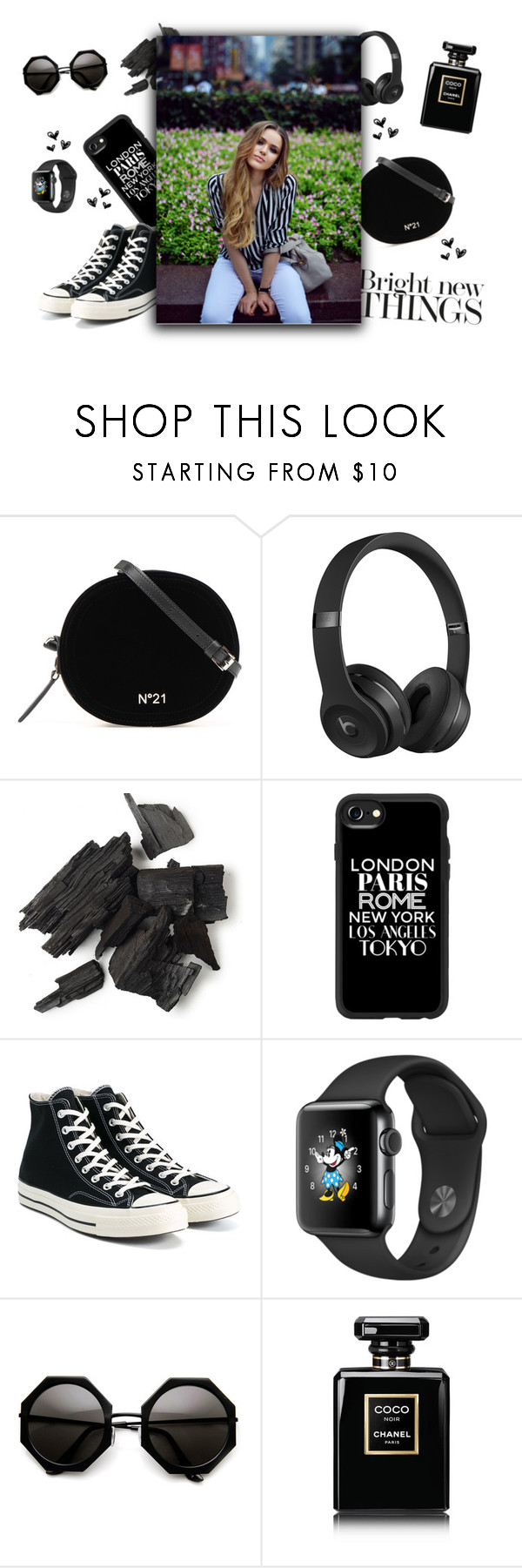 """""""Bright New Things"""" by monique-joanne ❤ liked on Polyvore featuring Beats by Dr. Dre, Casetify, Converse, Chanel, seattle and outfitsfortravel"""