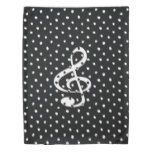 Stylish contemporary treble clef polka dots duvet cover | Zazzle.com#clef #contemporary #cover #dots #duvet #polka #stylish #treble #zazzlecom