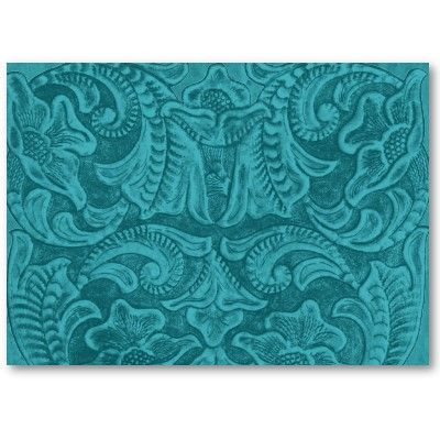 Turquoise tooled leather design country western business card turquoise tooled leather design country western business card template colourmoves