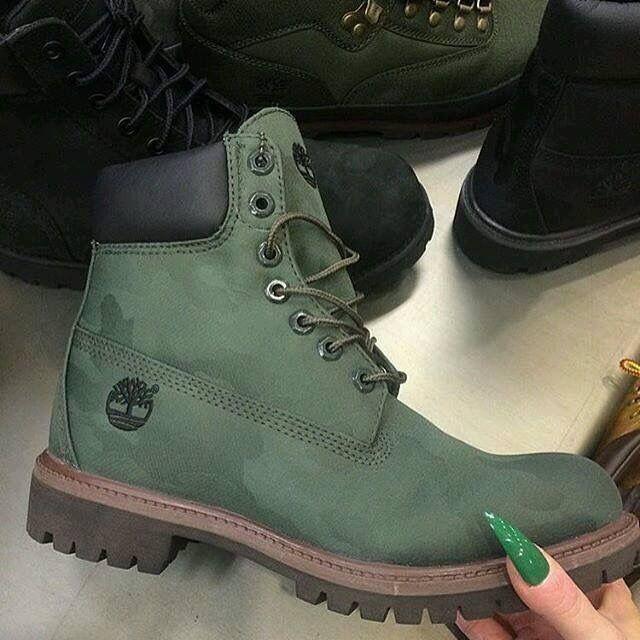 timberland femme vert kaki
