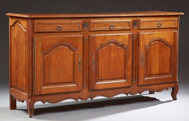 Antique Sideboard SOLD $400 French Louis XV Style Carved Cherry Sideboard, southern  antiques, antique - Antique Sideboard SOLD $400 French Louis XV Style Carved Cherry