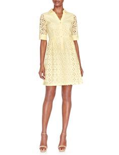The limited yellow eyelet dress