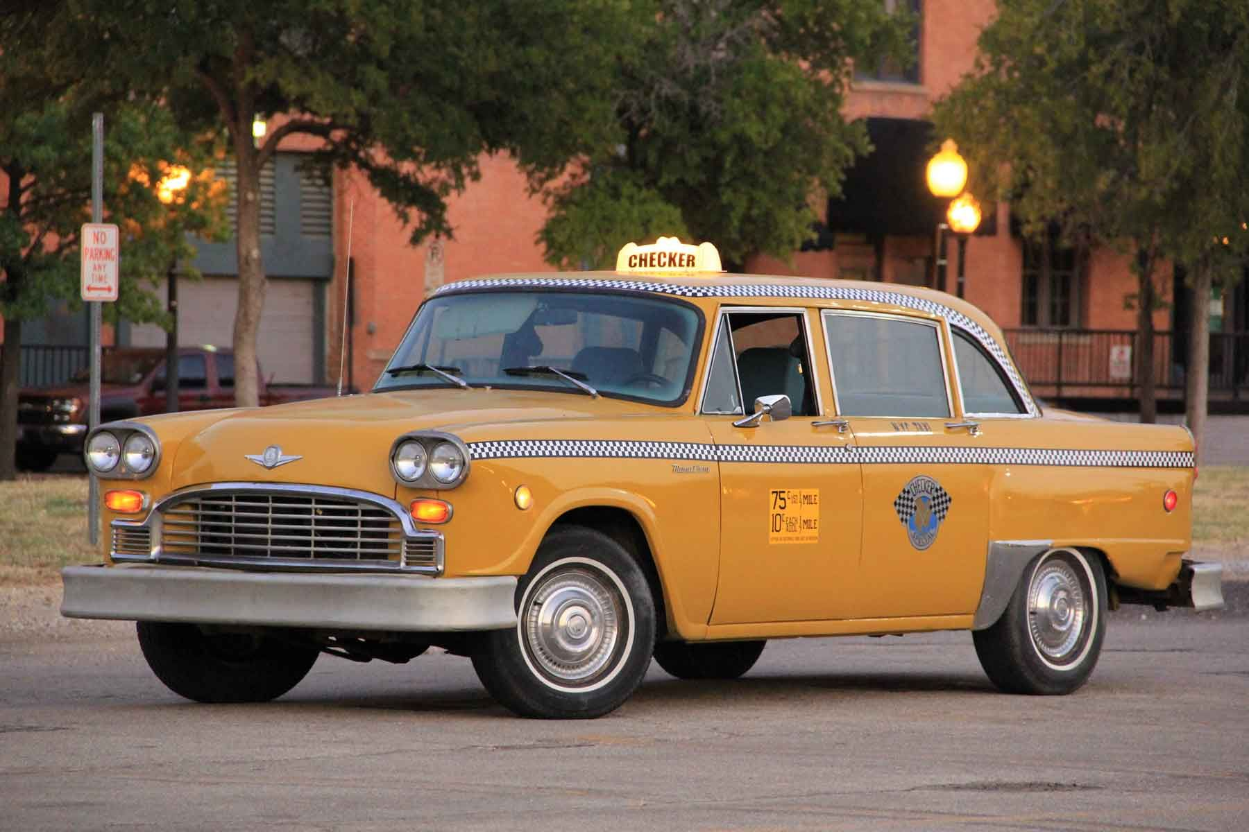The Car In The Left Is Checker Taxi Cab The Only Known