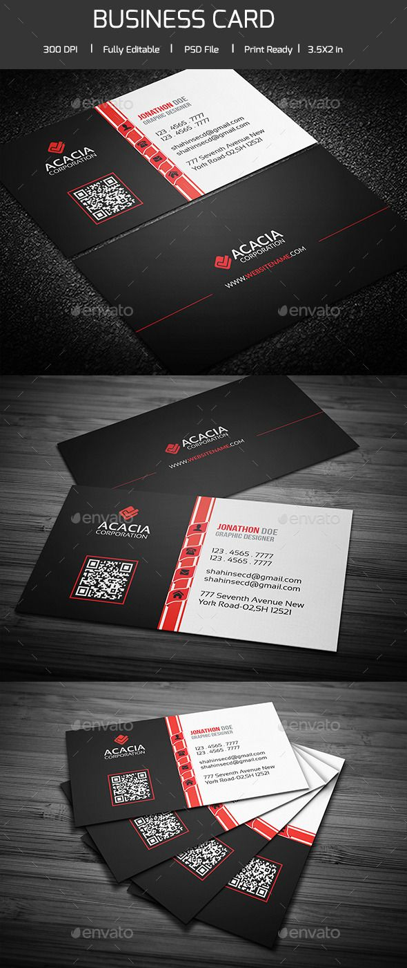Professional Business Card | Fonts-logos-icons | Pinterest ...