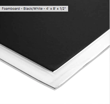 Foamboard Black White 4 X 8 X 1 2 In 2020 Foam Board Black And White Seamless Paper