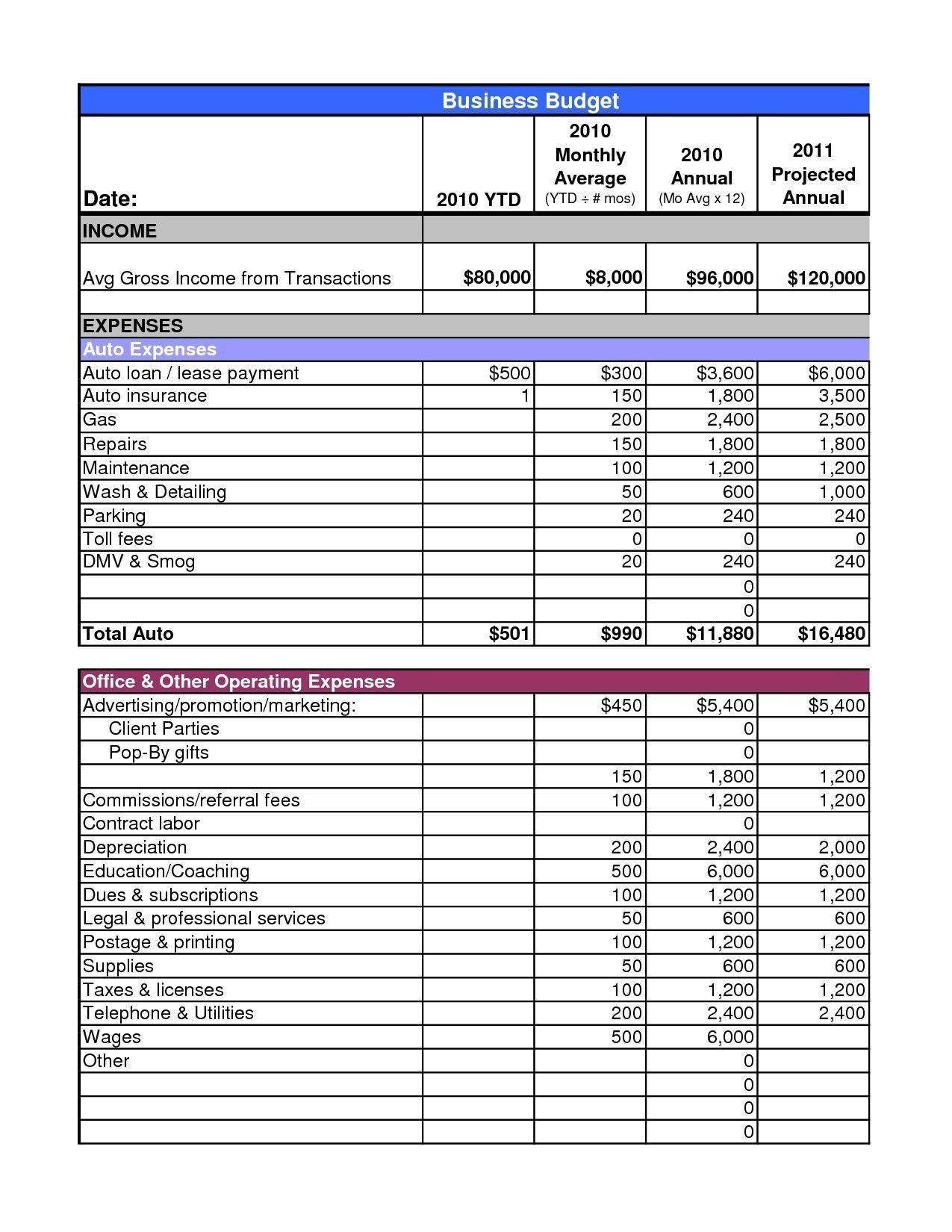 New Annual Budget Template xlstemplate xlssample xls