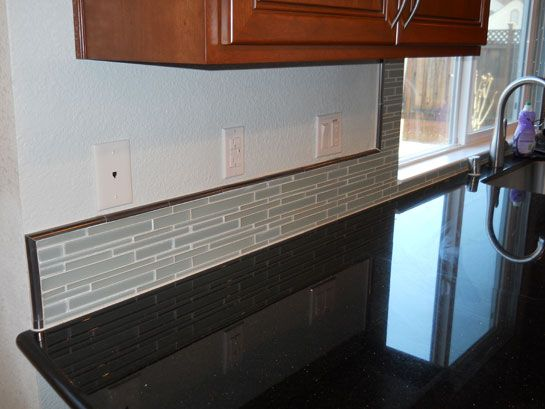 Glass Tile Backsplash | MERCED KITCHEN  Showing Glass Tile Backsplash
