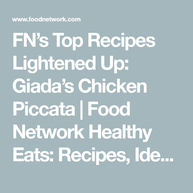 Food Network Lightened Up Chicken Piccata Choice Image Coloring