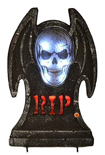 Halloween RIP Light Up LED Talking Spirit Tombstone Prop - Click - scary halloween ideas