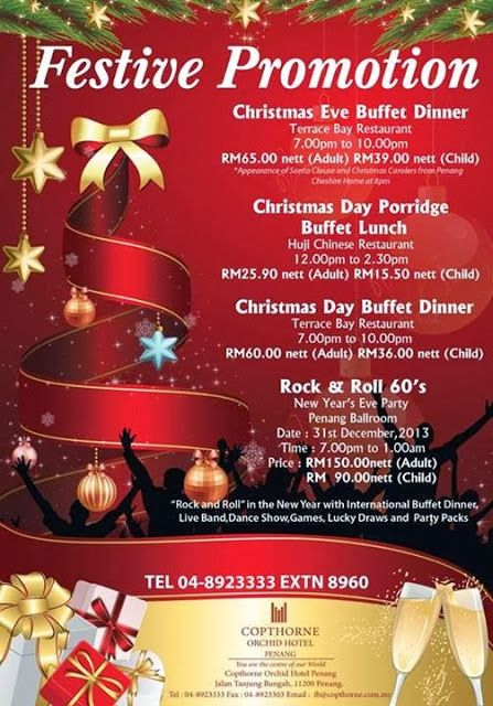 Christmas Promotion And New Year Promotion At Copthorne Orchid Hotel Penang Festive Promotion At Copthorne O Christmas Promotion Christmas Buffet Foodie Pin
