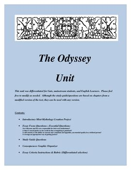 the odyssey writing style
