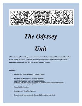The Odyssey Questions   shmoopcom