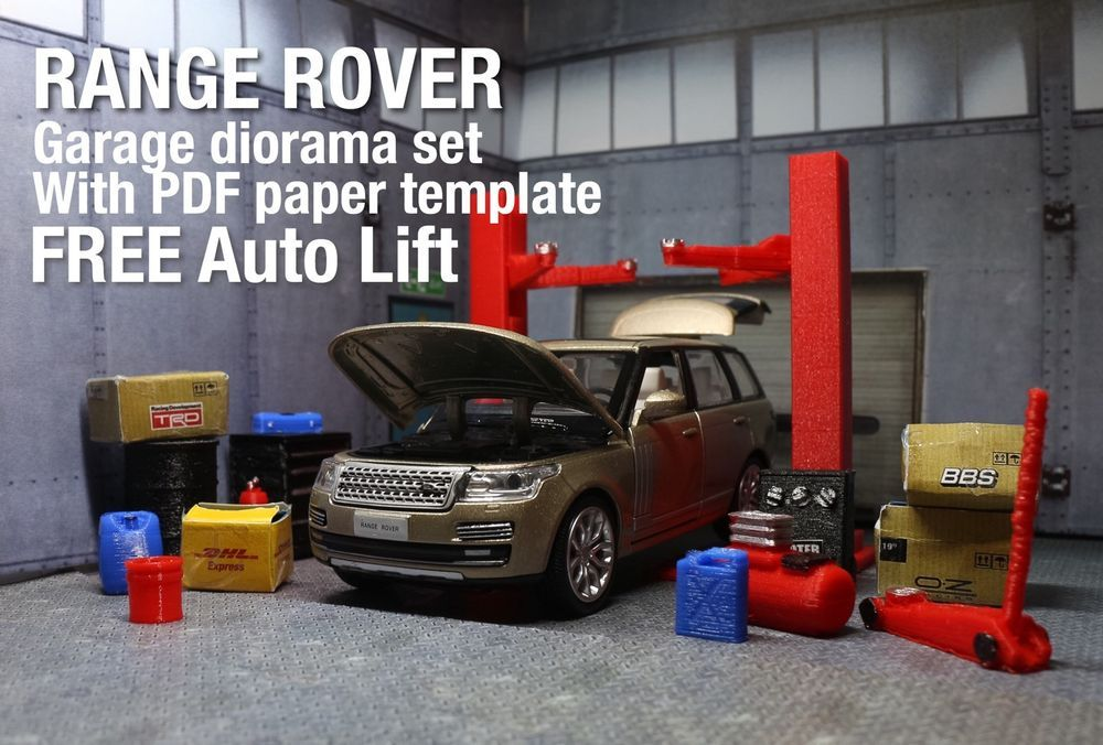 Range Rover Diecast Model 1 32 Diorama Garage Accessory Set Auto