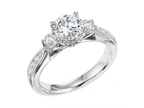 1 2 Ctw Three Stone Style Engagement Ring Engagement