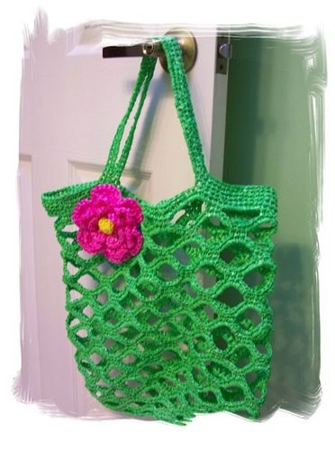 VIDA Tote Bag - Green String Pattern by VIDA CZNRd
