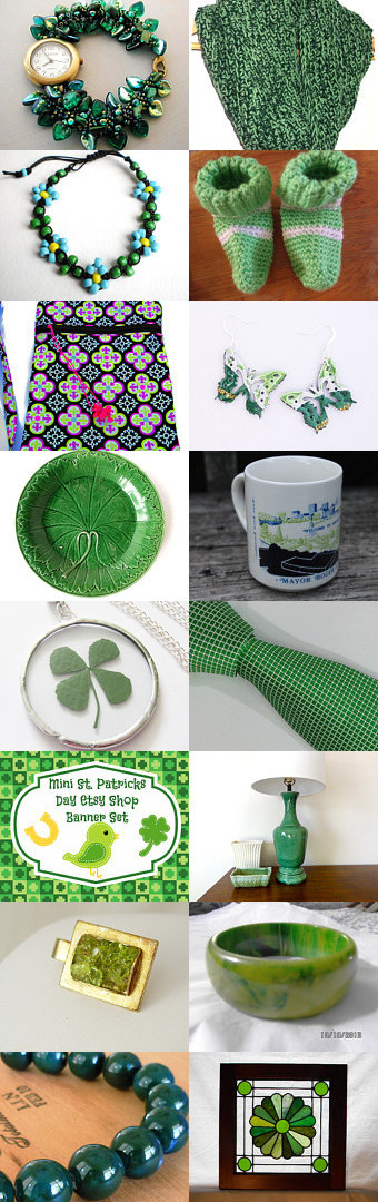 Celebrating St Patrick Green! by Bobette Fisk on Etsy--Pinned with TreasuryPin.com#Estyhandmade #giftideas #StPatricksDay