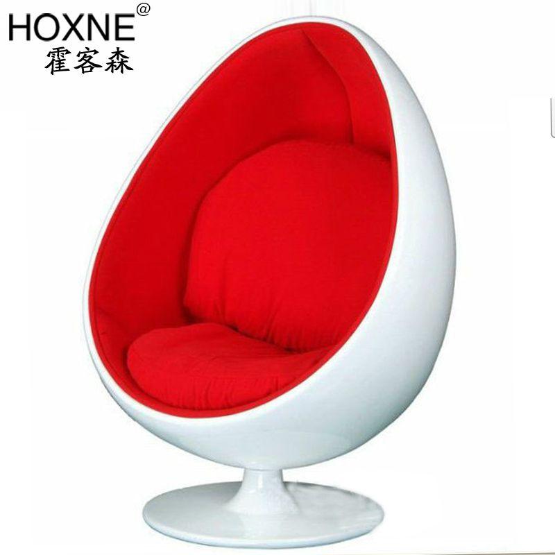 Huo Passenger Sen Oval Ball Chair Lounge Chair Fiberglass Chair Egg Chair  Egg Chair Bubble Chair
