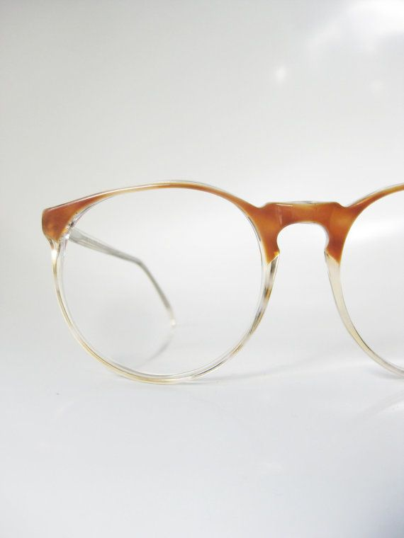 196c38a3493 Round Horn Rim Eyeglasses 1960s Jean Lafont Vintage Deadstock Clear  Transparent Womens Mens Unisex Sunglasses French Eyewear Retro 60s
