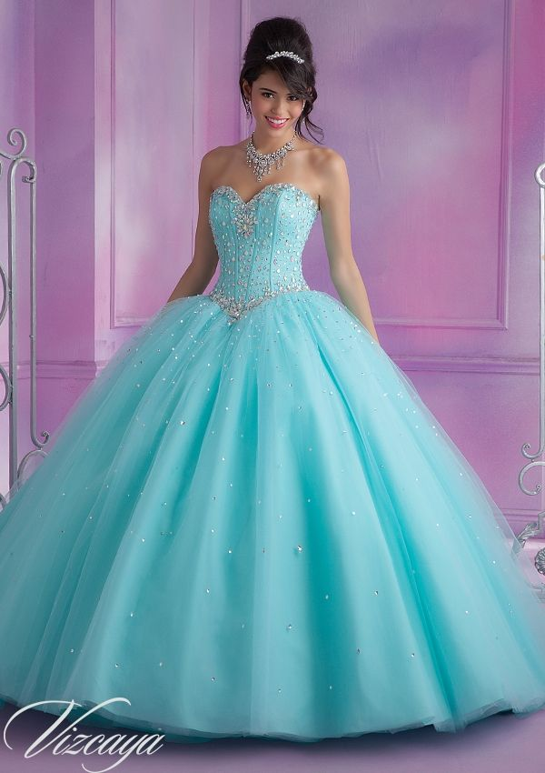 87f322c50 Quinceanera Dress From Vizcaya By Mori Lee Dress Style 89017 Tulle Quinceanera  Gown with Beading