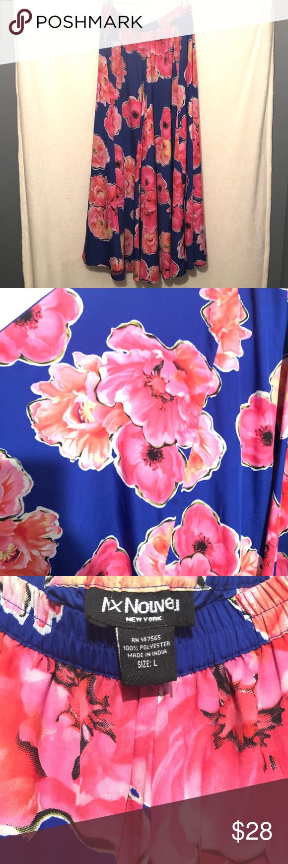 Floral bright flowy skirt