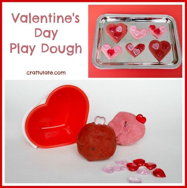 valentine's day play dough | play dough, plays and activities, Ideas