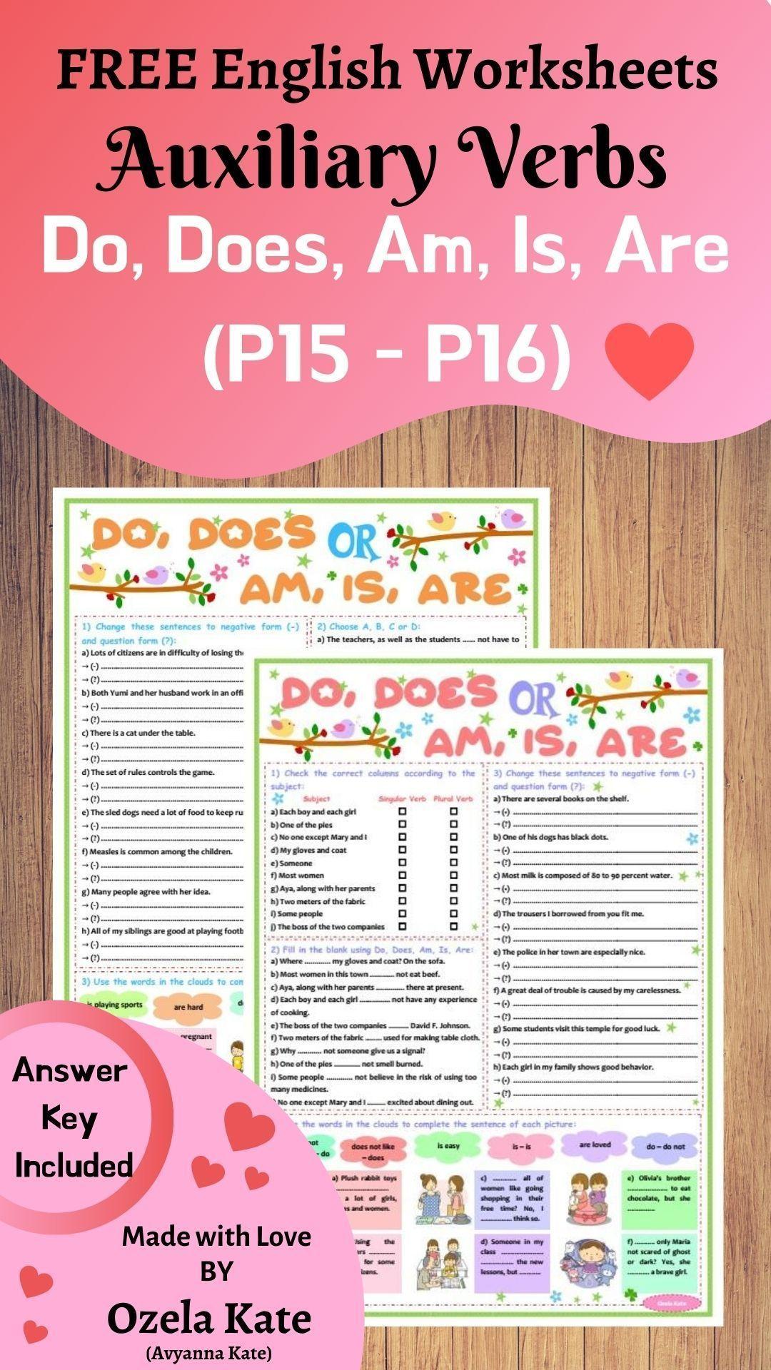 Free English Grammar Sheet