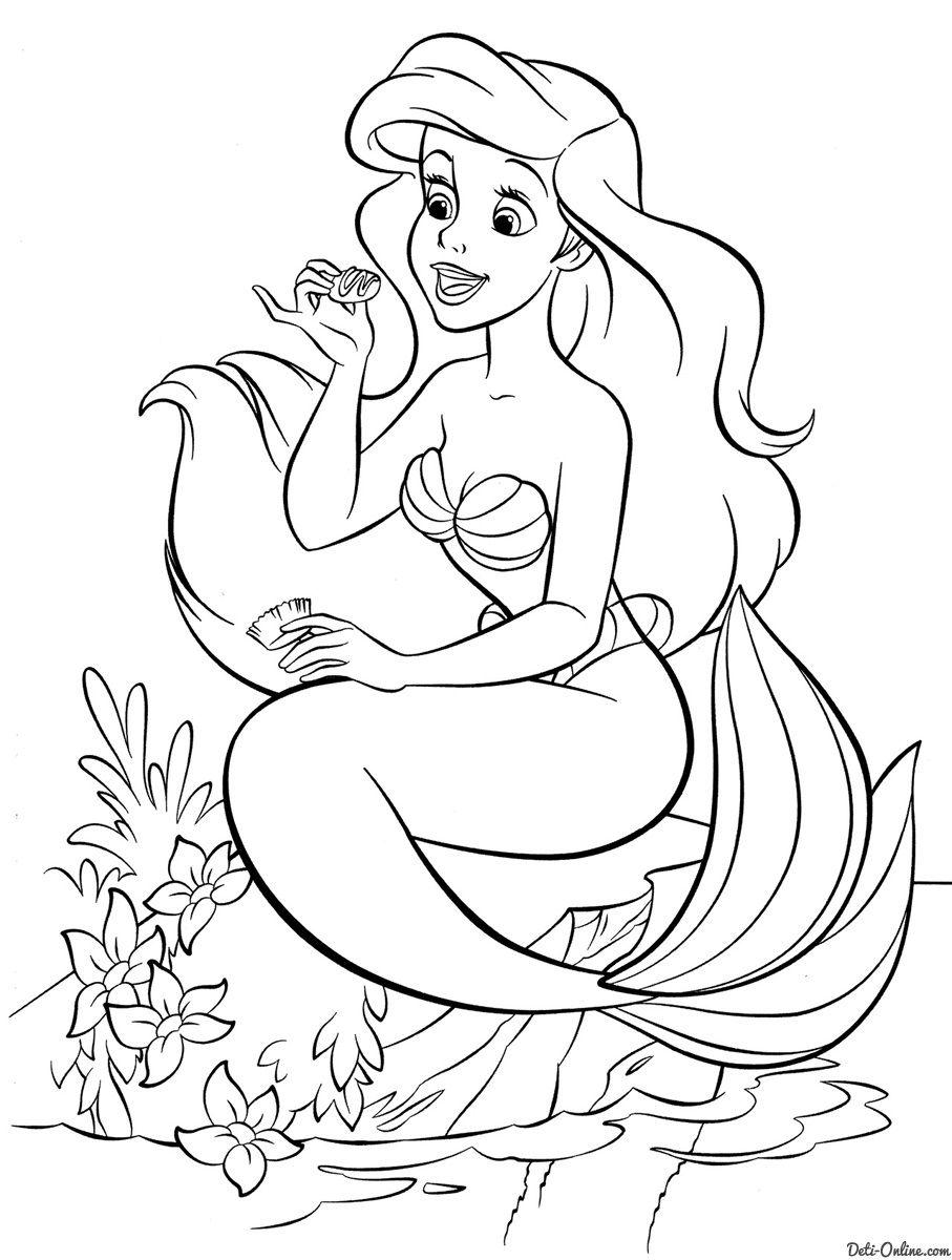 Pin On Y Blank Pattern Little Mermaid Disney