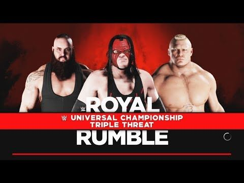 Brock Lesnar vs Braun Strowman-Triple Threat Match :Universal Championship  WWE is a professional wrestling video game d.