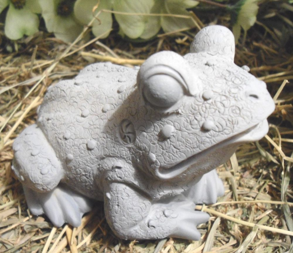 Garden Cement Molds: Statue Casting Latex W Plastic Backup Frog Mold Plaster