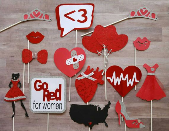 48769b3cbd8f Women s Heart Health Photo Booth Props in 2019