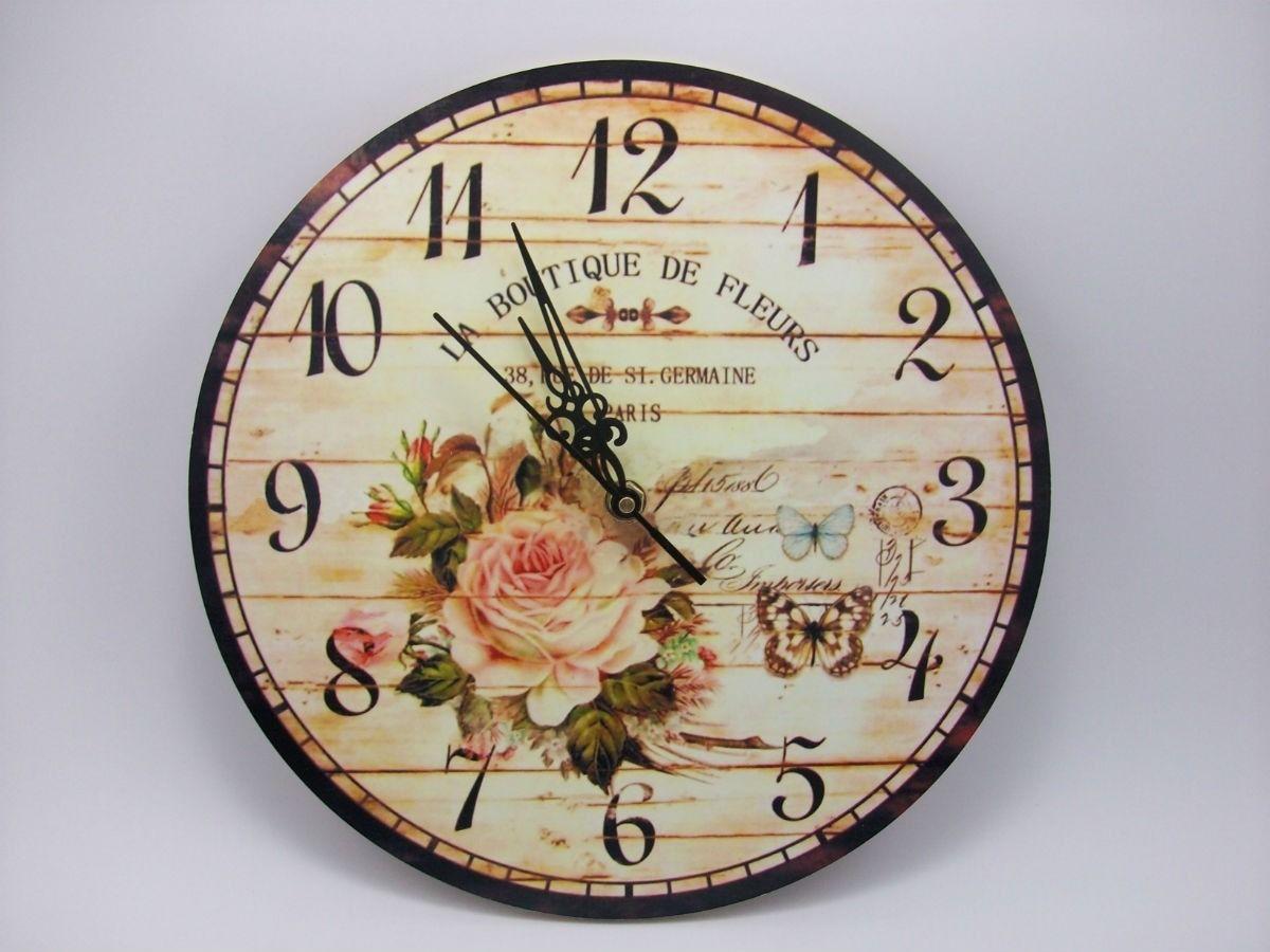 Relojes De Pared Deco Vintage En Madera 179 99 En Mercadolibre  ~ Relojes Grandes De Pared Vintage