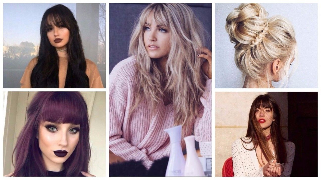 Hairstyles 2019 Female With Bangs: Bangs Hairstyles For Long Hair 2019 Hairstyles 2019 New