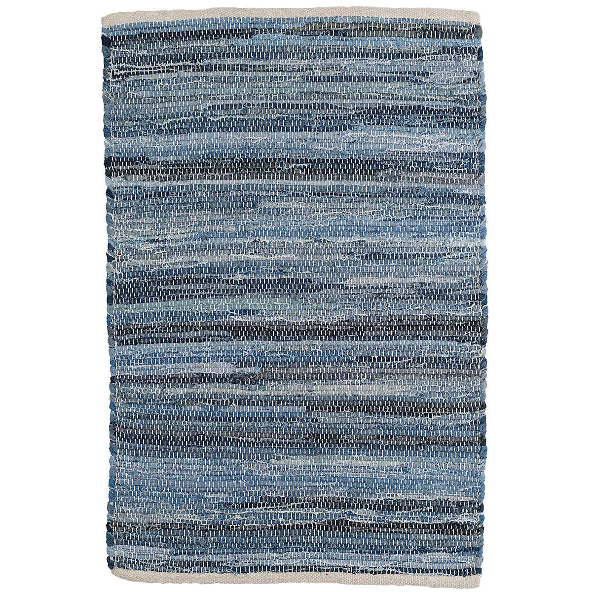 Fine Denim Rag Woven Cotton Rug Dash Albert Cotton Rug Denim Rag Rugs Cotton Weaving