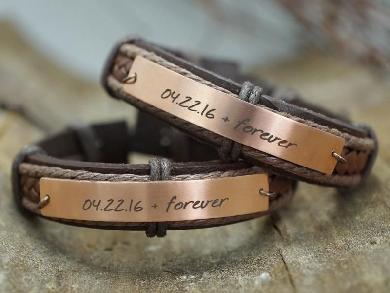 dbb428d33d8e8 Matching Couple Bracelets for Friendship, Best Friend, His and Her ...