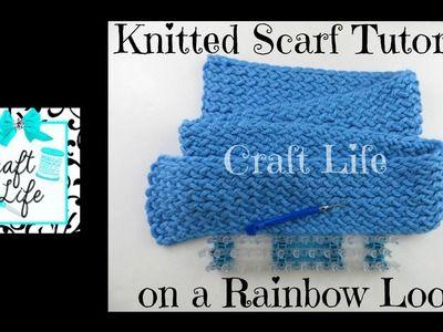 Craft vida bufanda de punto Tutorial en un telar del arco iris o un telar de tejer
