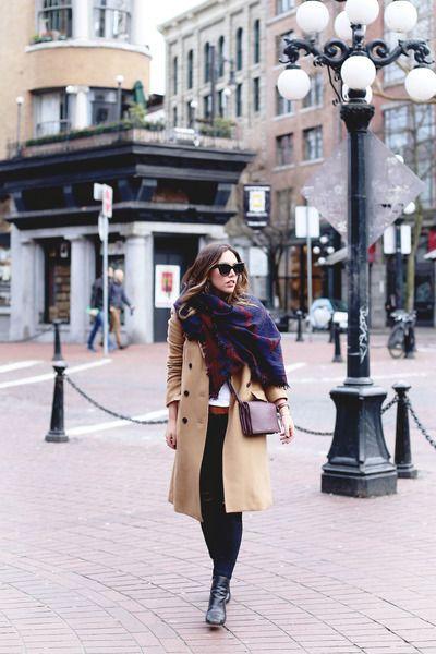 cee059fec7cb Tan-wool-aritzia-coat-navy-blanket-aritzia-scarf