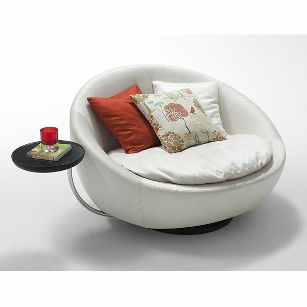 divani casa alba modern swivel round lounge chair home