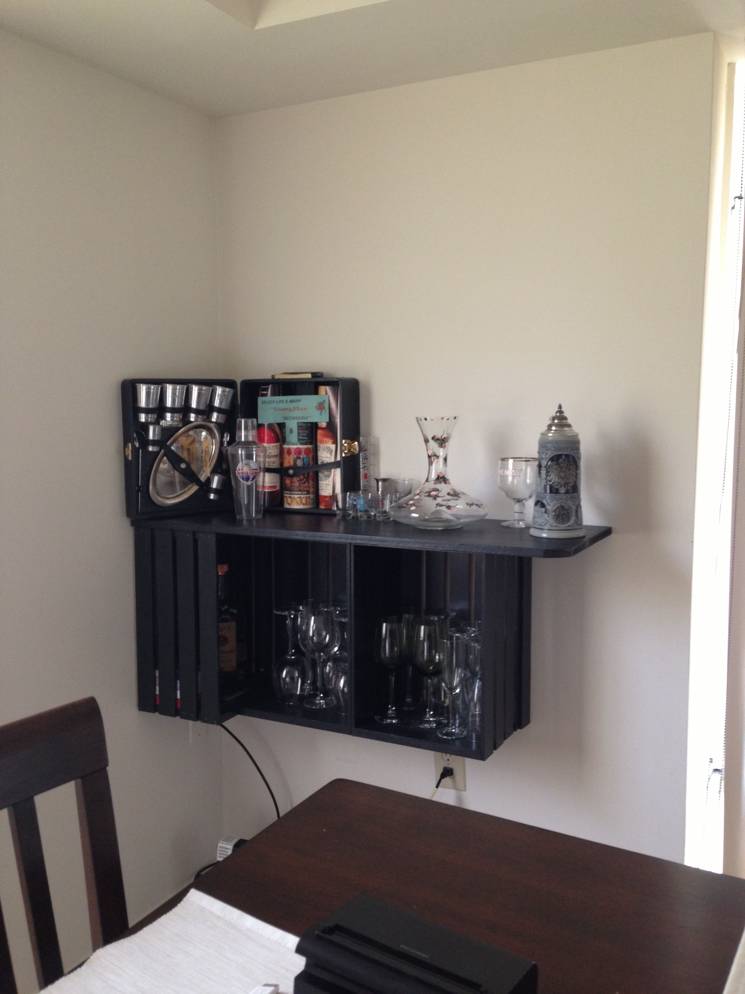DIY corner bar from wooden crates | My personal creations ...