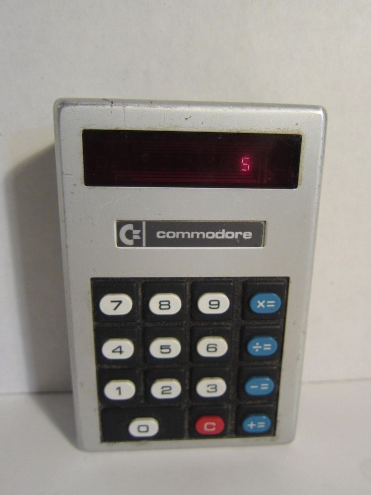 Vintage red led calculator Commodore Minuteman 6 working made in - financial calculator